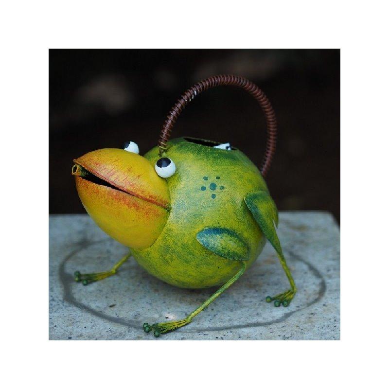 Figurina metal Watering can frog