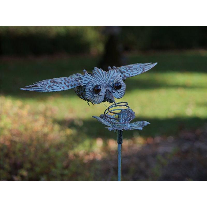Figurina metal Flying owl