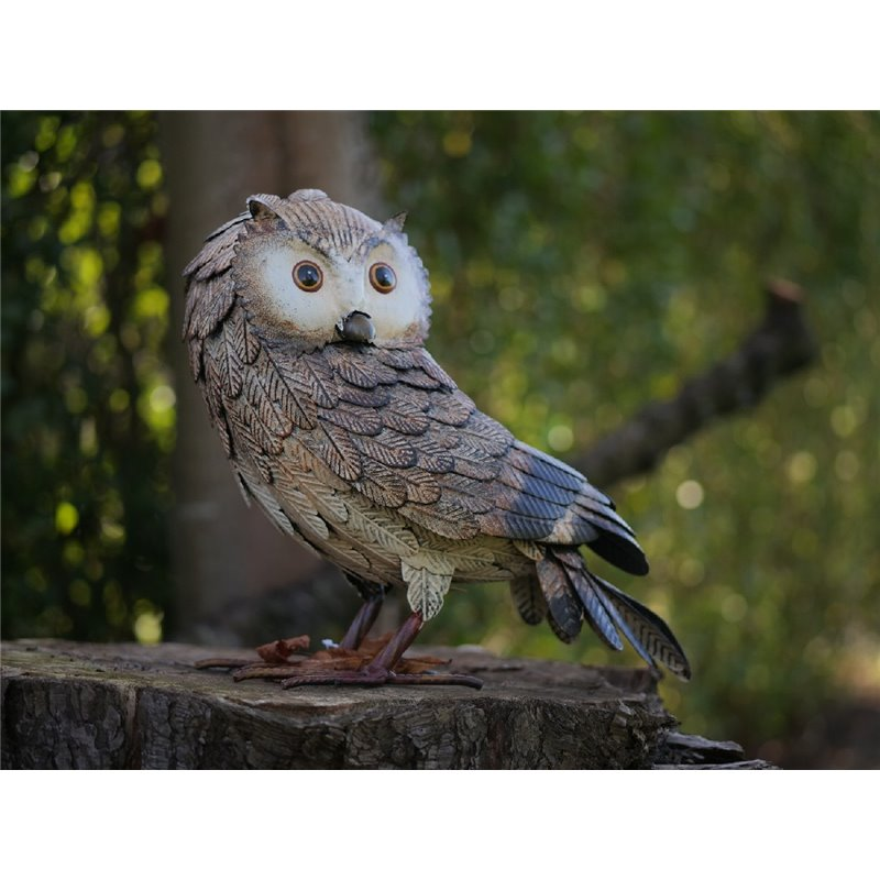 Figurina metal Owl
