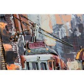 Tablou metal 3D Tramway small 60x60 cm