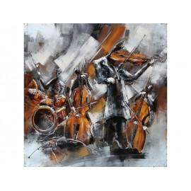 Tablou metal 3D Jazz 100x100 cm