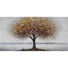 Tablou canvas Tree red bue
